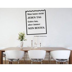 Wandtattos Mit WortHupferl  Zitaten Nach Wunsch Gibt Es In Dekorativer  Gestaltung Und Vielen Formaten Bei Http://www.trenddeko.ch/worthupferl