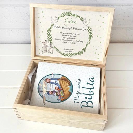 Skrzynka Z Biblia Pamiatka Komunii Personalizowana Decorative Boxes Box Decor