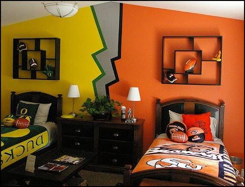 Cute painting idea for a shared child 39 s room but i 39 d - Cute colors to paint your room ...