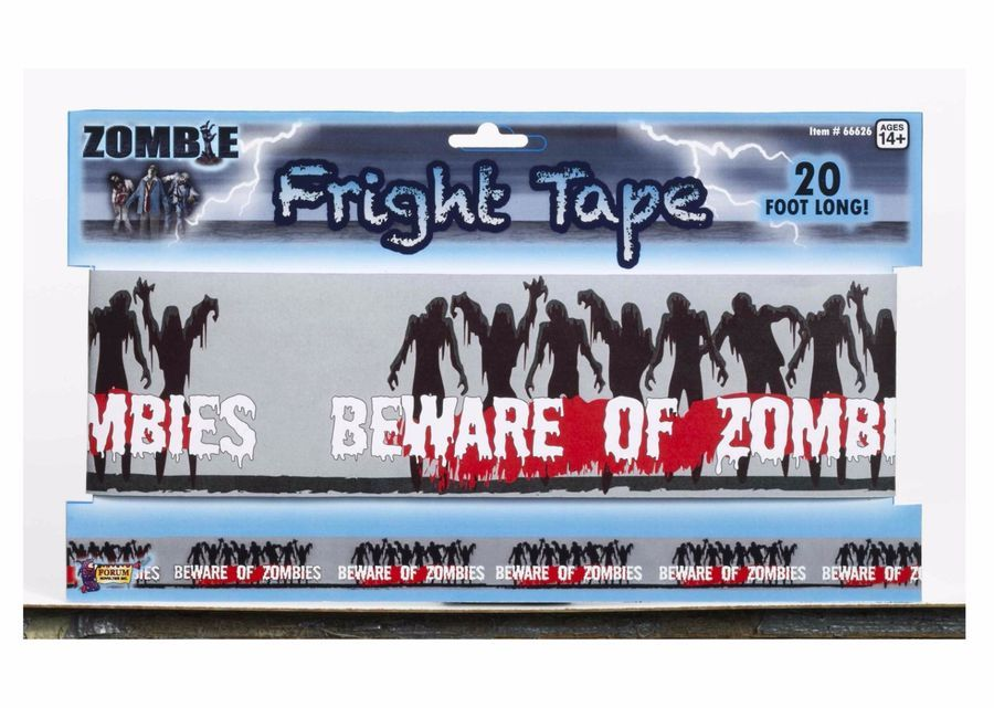 Beware of Zombies Zombie Fright Warning Tape Halloween Decor