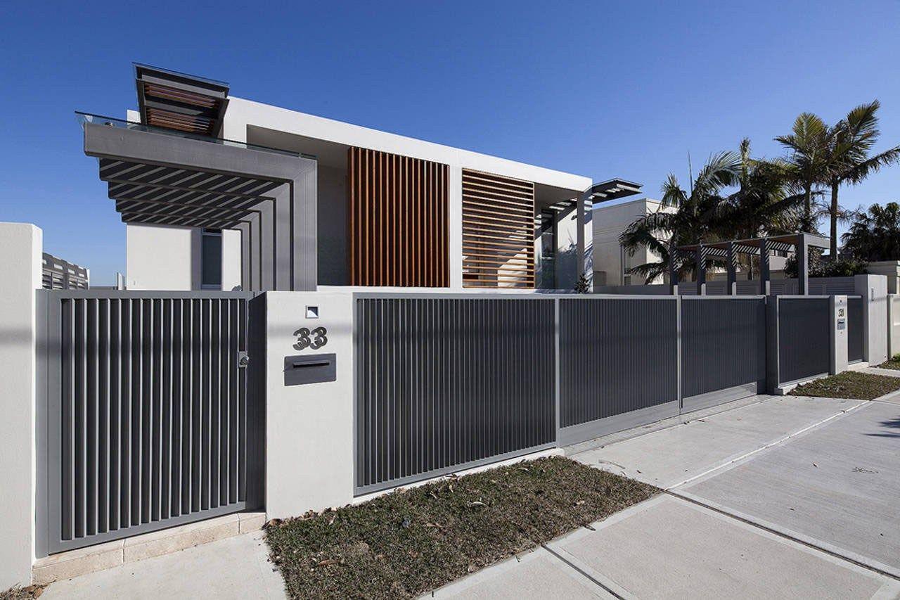 Top modern fences for homes via thepinsta entrance doors fence also outdoor decor design rh pinterest