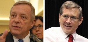 DURBIN AND KIRK SHOW THAT REPUBLICANS AND DEMOCRATS CAN GET ALONG IN AN ELECTION YEAR
