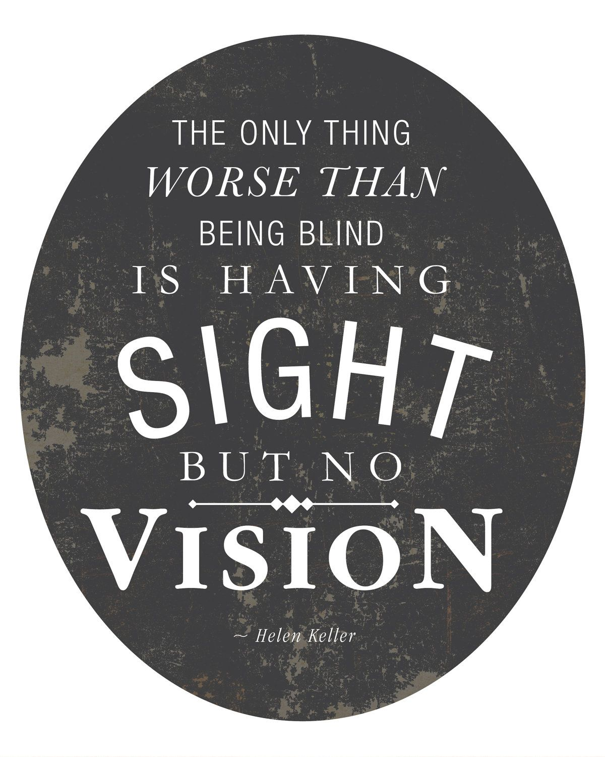 Great Business Quotes Vision: Quote By Helen Keller 8x10 Art Print