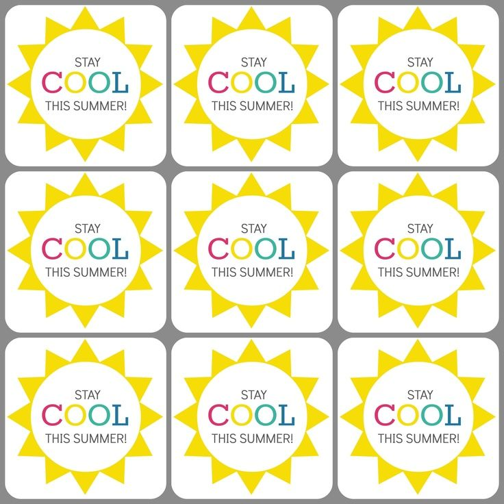photograph relating to Have a Cool Summer Printable referred to as Continue to be-Interesting This Summertime Printable Tags Occasion Strategies Trainer