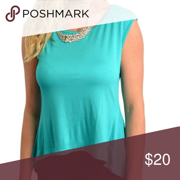 Turquoise Summer Top With Buttons Up The Back My Poshmark Picks