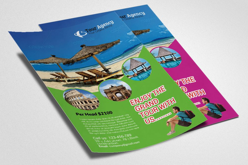 Tour Travel Agency Flyer Template By Business Flyers On
