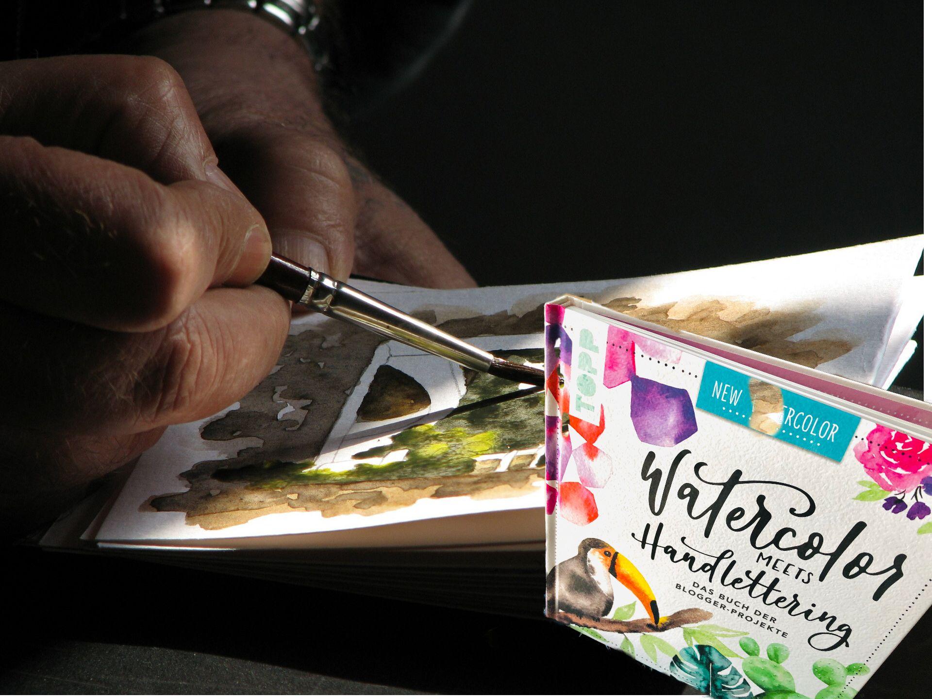 Watercolor Meets Handlettering Ein Feines Buch Fur Aquarell