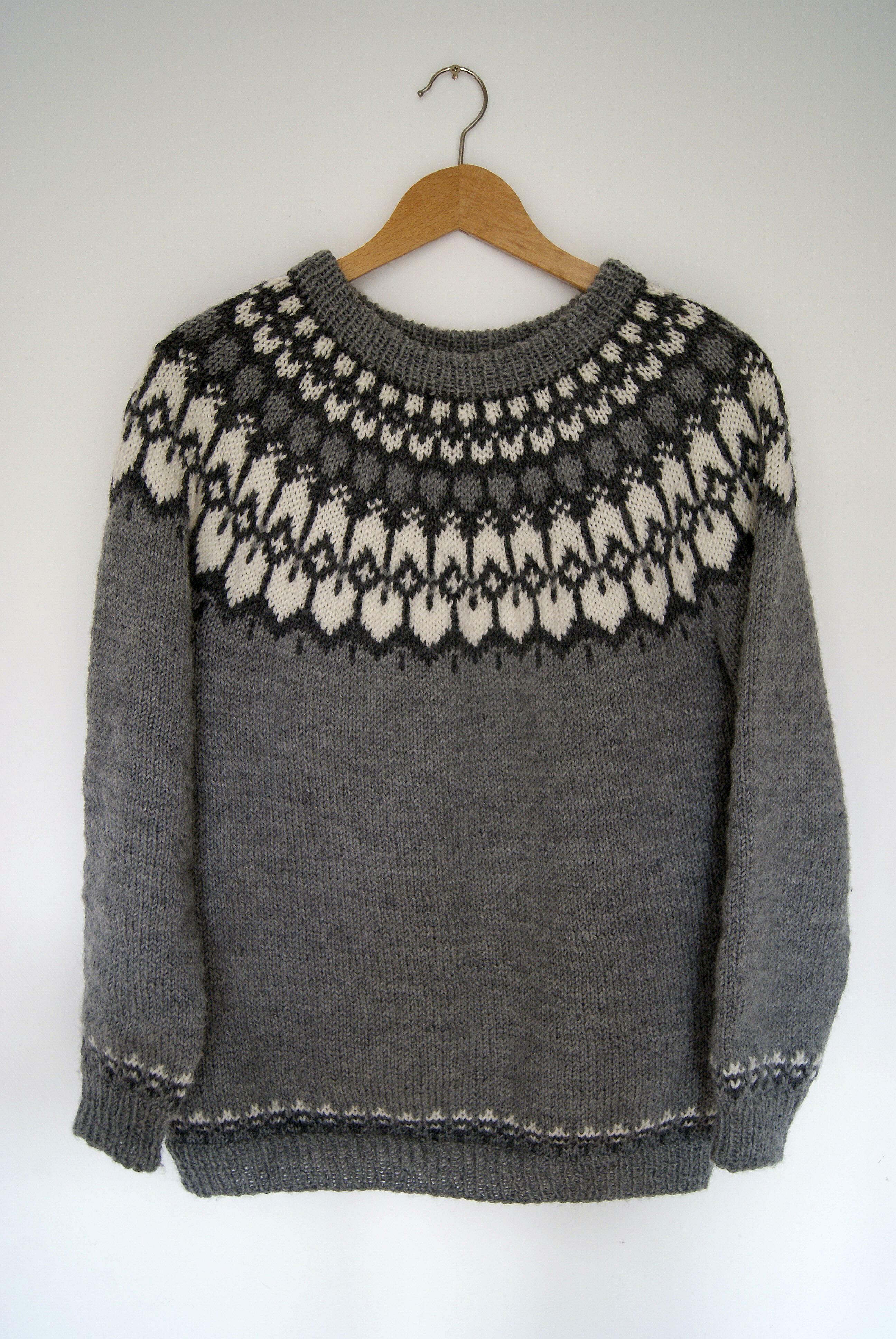 Icelandic Yoke Sweater #icelandic #knitting and #crochet