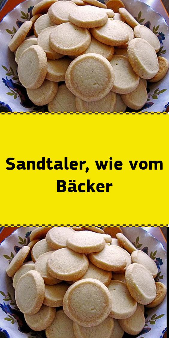 Sandtaler wie vom Bäcker #kuchenkekse