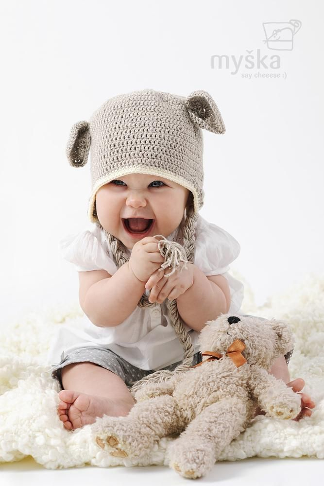 Ušatá ušianka-chlapčenská    So darn cute!!!