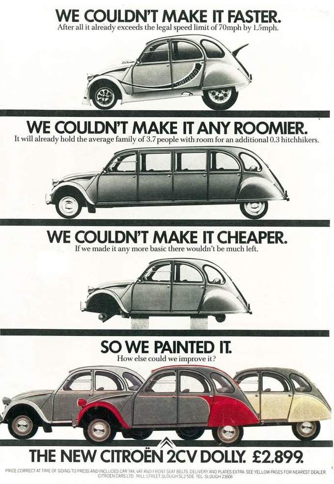 Clever Ads For The Citroen 2cv