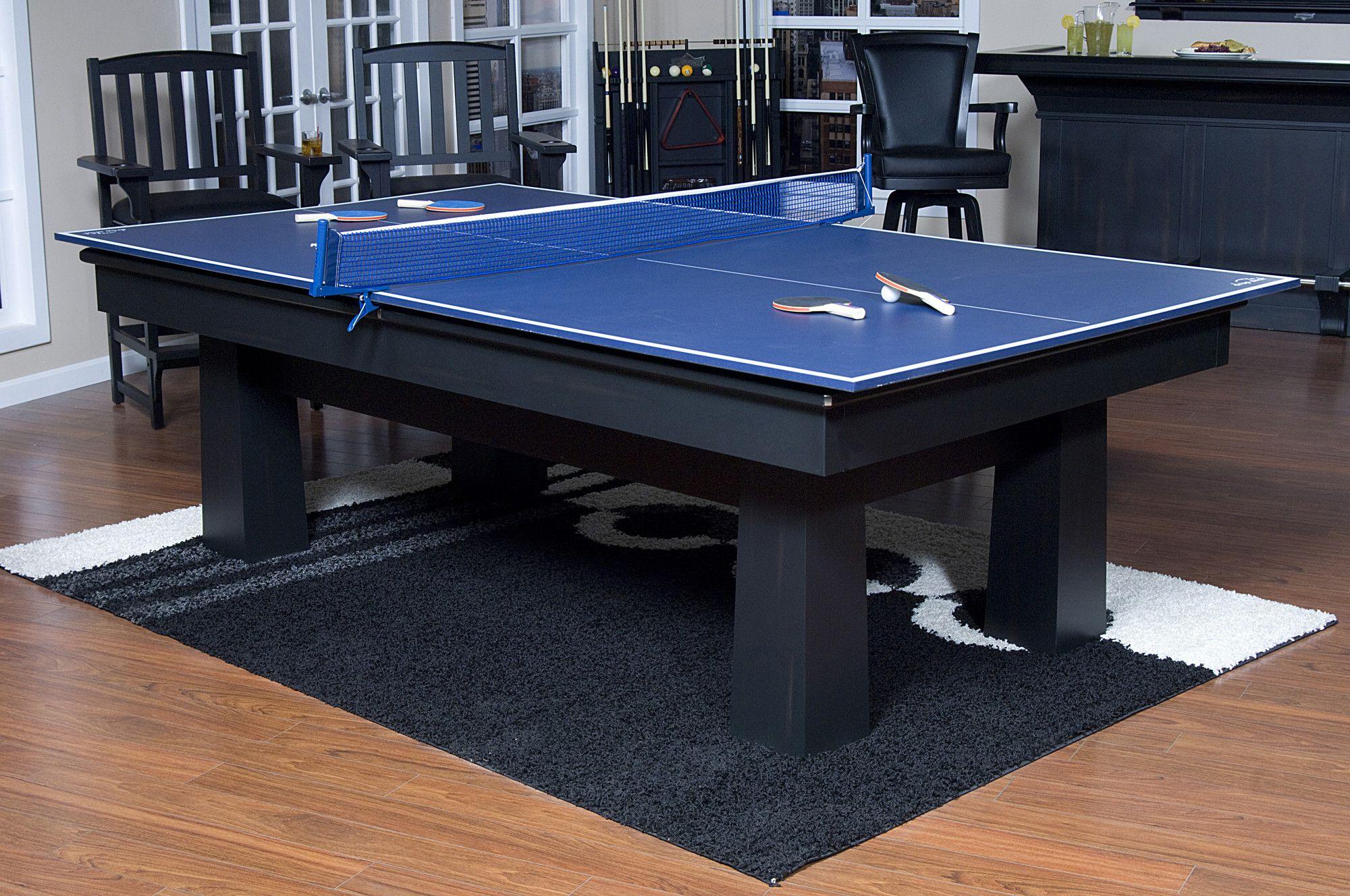 American Heritage Drop Shot Ping Pong Conversion Top Table