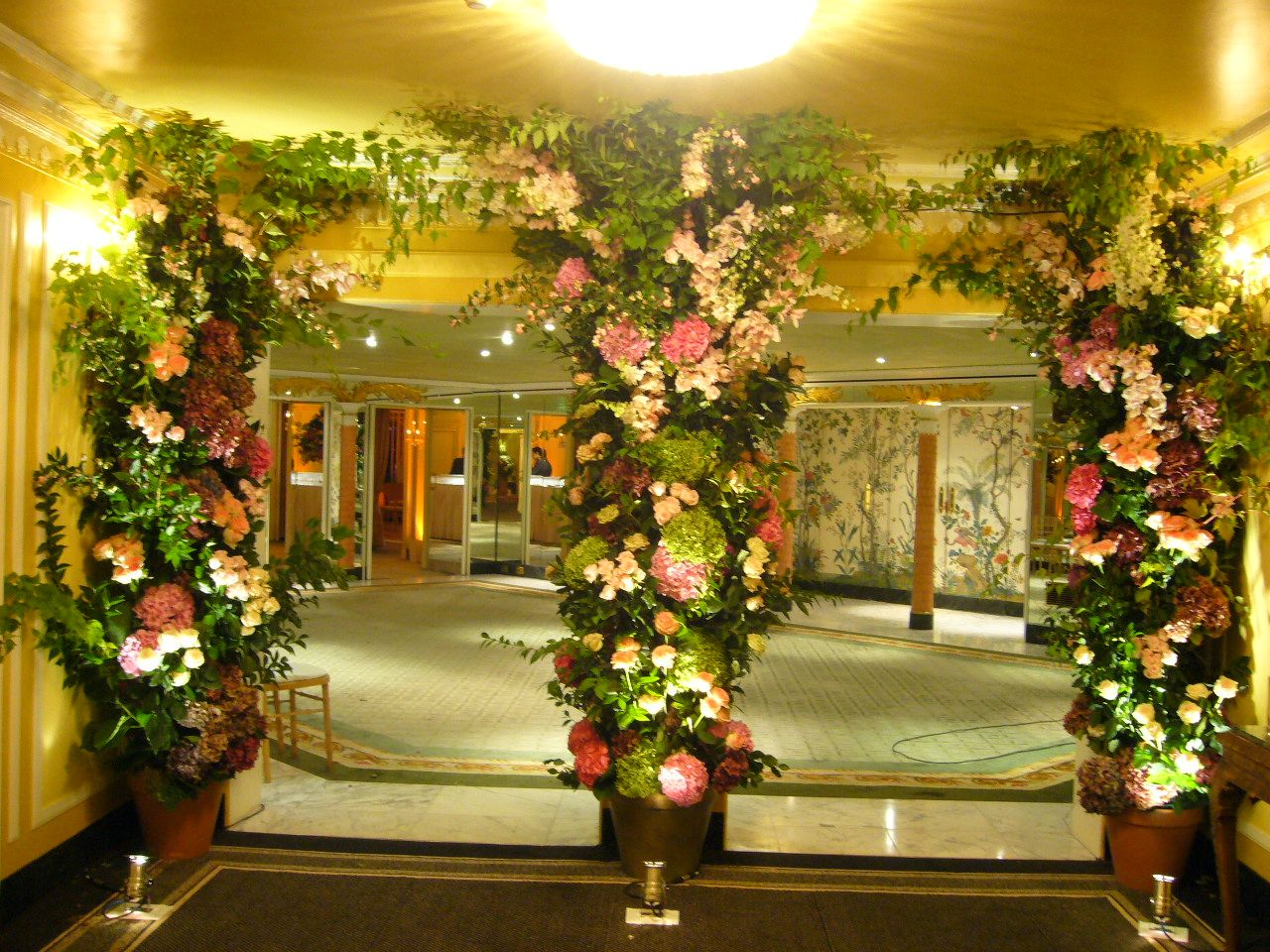 Floral Arches at The Dorchester with Tony Page
