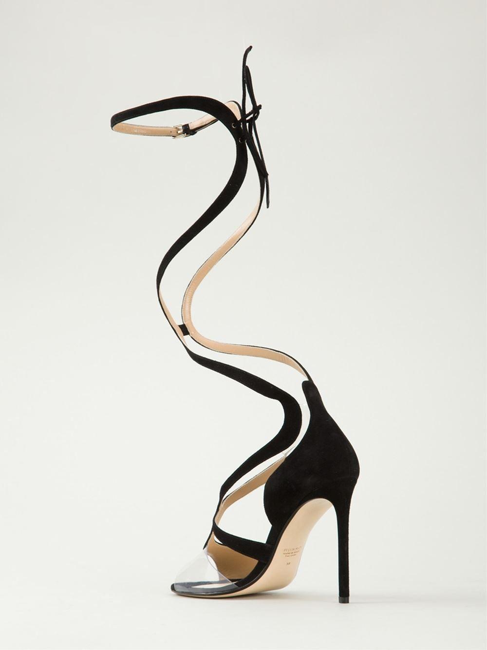 9f6e435e3ac2 Francesco Russo - Black Ankle Strap Sandals - Lyst