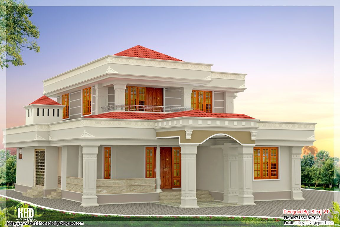 Dian Home Elevation : Cool indian home front elevation painting colours