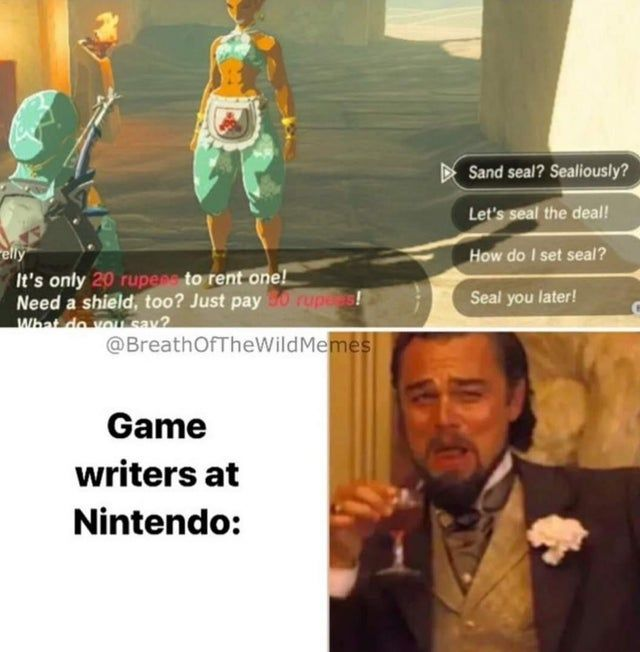 Nintendo must think they're comedy geniuses