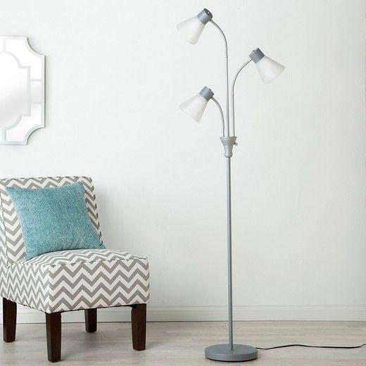 Multi Head Floor Lamp Includes Cfl Bulb Room Essentials