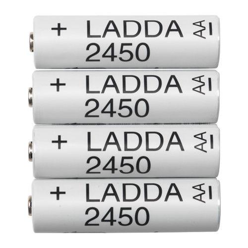 Ladda Pile Rechargeable Hr6 Aa 1 2v Ikea Canada Ikea In 2021 Rechargeable Batteries Battery Sizes Recharge