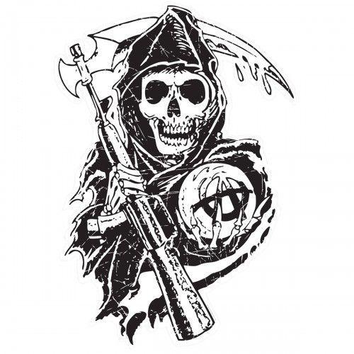 Sons Of Anarchy Reaper Wall Decal Imagem De Fundo Para Iphone Desenhos Para Tatuagem Filhos Da Anarquia