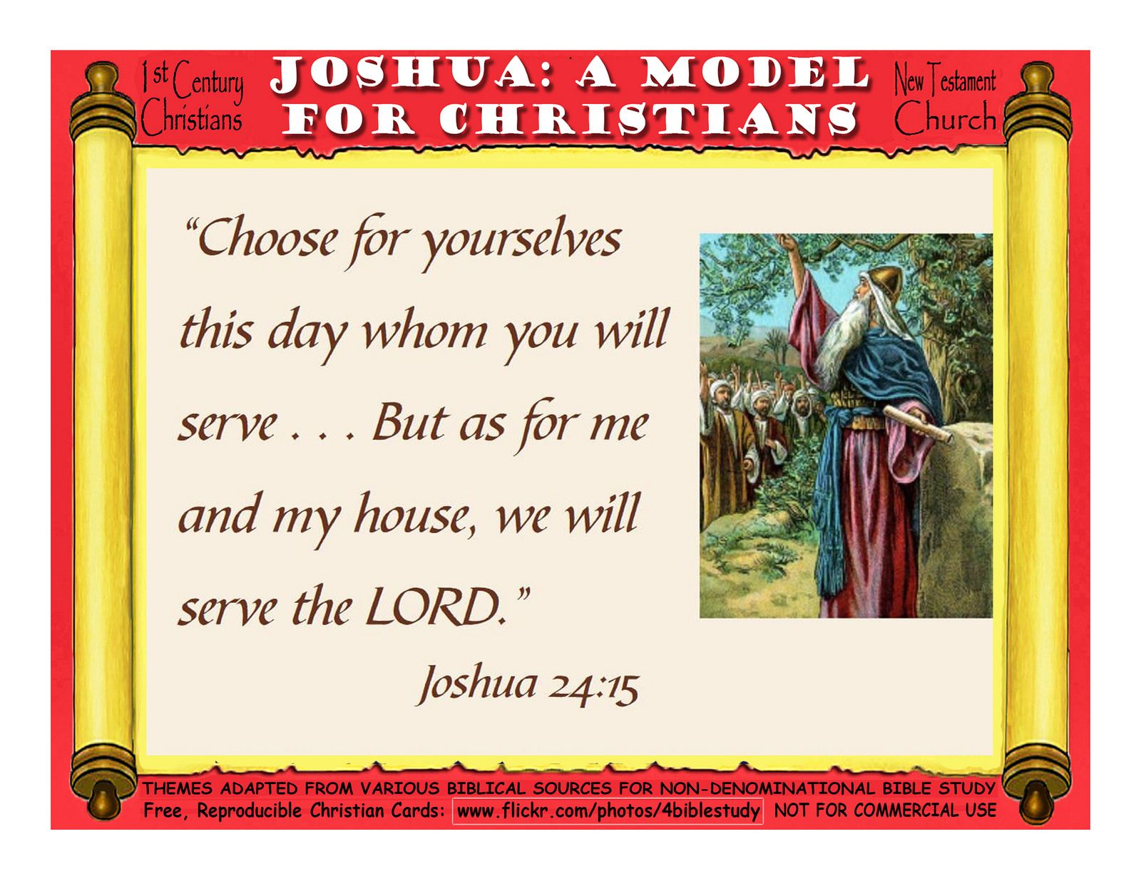 Joshua, A Model for Christians - First Century Christians - New