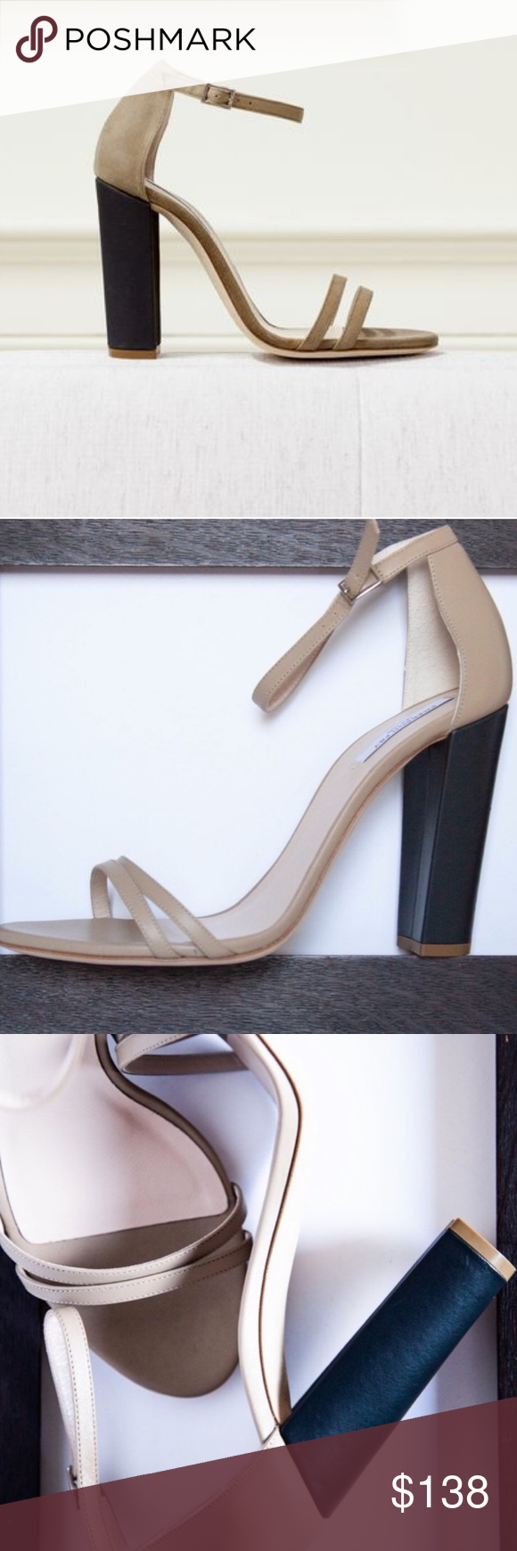 Emerson Fry Thin Strap Heel -Tan Beautiful and well made Emerson Fry thin strap heels. Narrow straps combined with a chunky heel for a more subtle color block look. Adjustable ankle strap. Leather upper and leather lined with leather wrapped heel.   Made in Italy Size 41(10.5-11) 10 3/4 toe to heel 4.5 Heel No box Emerson Fry Shoes Heels #emersonfry