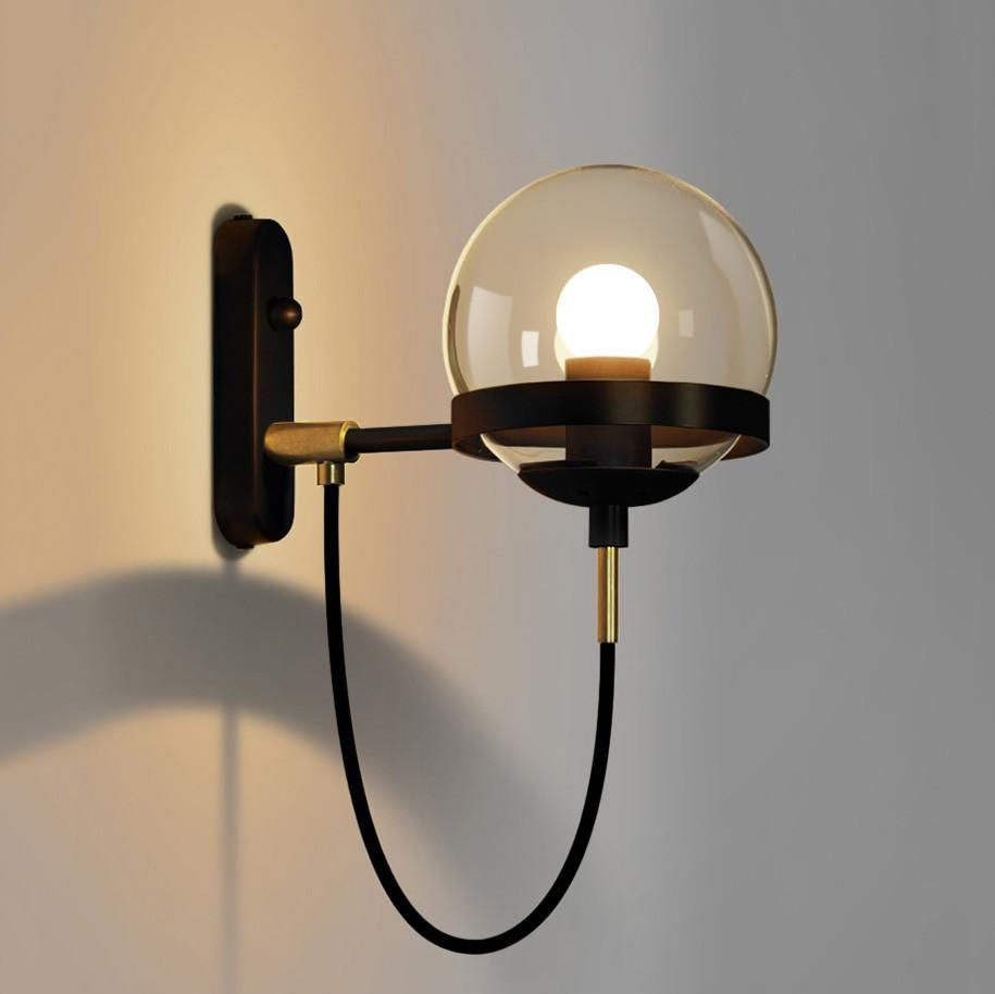 Dexter Glass Orb Wall Light Tudo And Co Tudo And Co Vintage Wall Lights Contemporary Wall Lamp Wall Lights