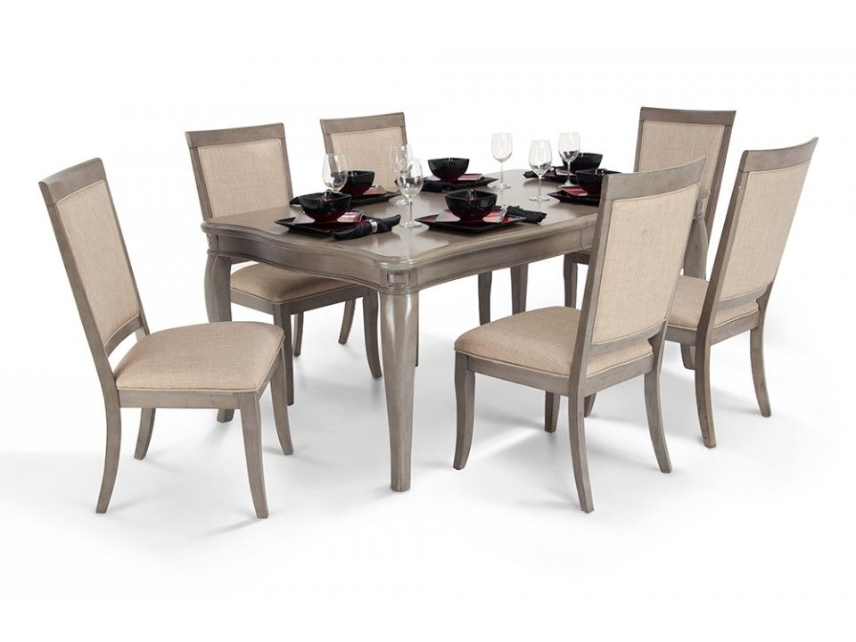Gatsby 7 Piece Dining Set With Side Chairs 7 Piece Dining Set Dining Room Sets Dining