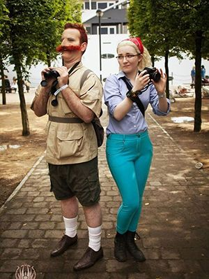 15 fun and unique diy halloween couples costumes inspired by your favorite cartoon characters - Funny Character Halloween Costumes
