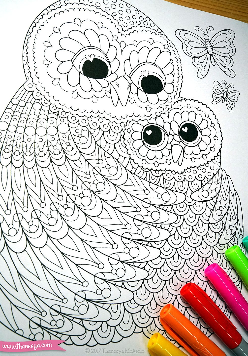 Owls Coloring Page From Thaneeya McArdles Power Of Love Book