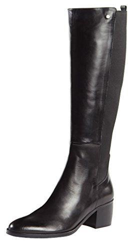 Grazia Tall Stretch Black Leather Boots