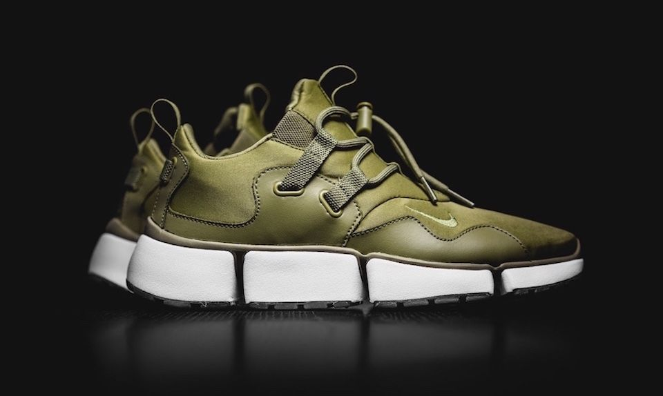 The Nike Pocket Knife DM is an updated version of the classic sneaker, and  its available now in Trooper Green.