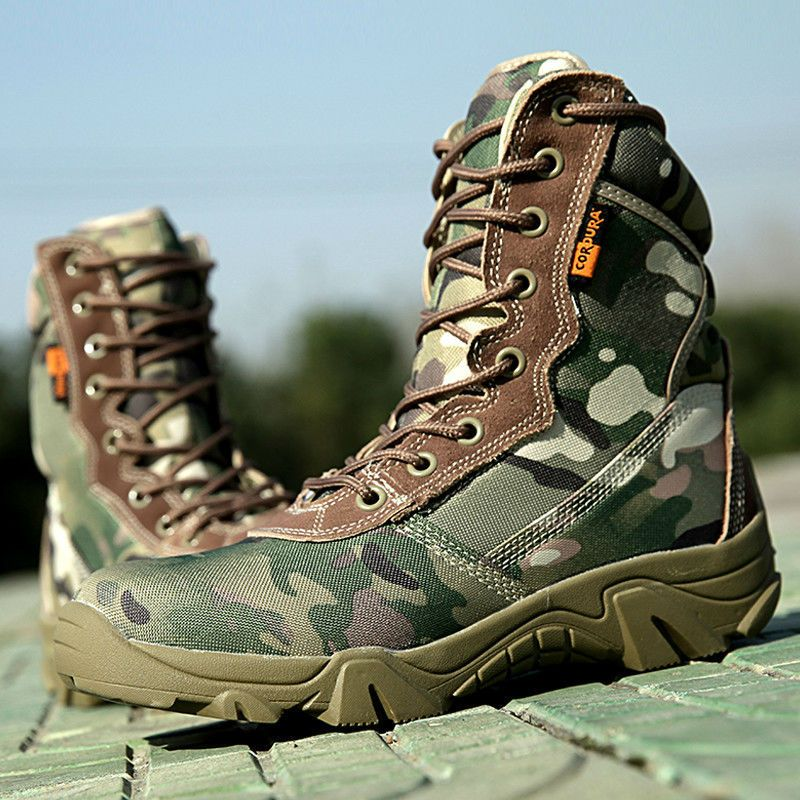 11006c7046467 Men Military Tactical Ankle Boots 2017 Summer Camouflage Mens Combat Boots  Male Winter footwear Outdoor Hiking Army Shoes