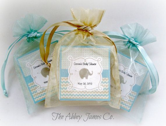 Baby Shower Party Favors Elephant ~ Baby boy shower favors soap favors elephant baby by abbeyjames