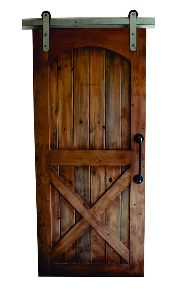 Industrial Brushed Steel Sliding Barn Door Hardware 100 Etsy Rustic Barn Door Barn Door Interior Barn Doors Diy