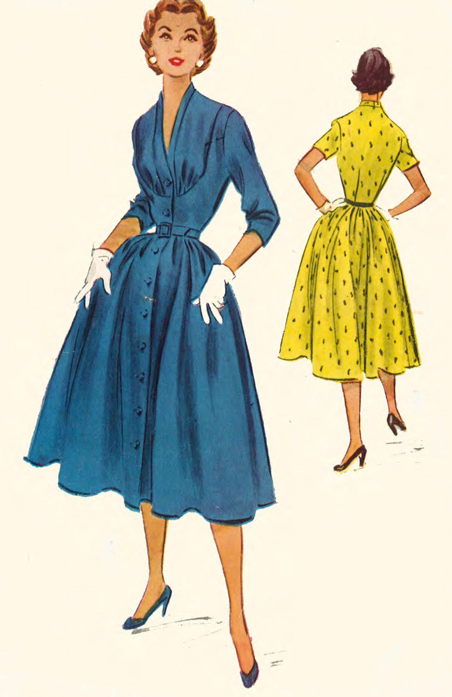 Vintage 1950S Marilyn Rockabilly Style Dress Sewing Pattern Rare B