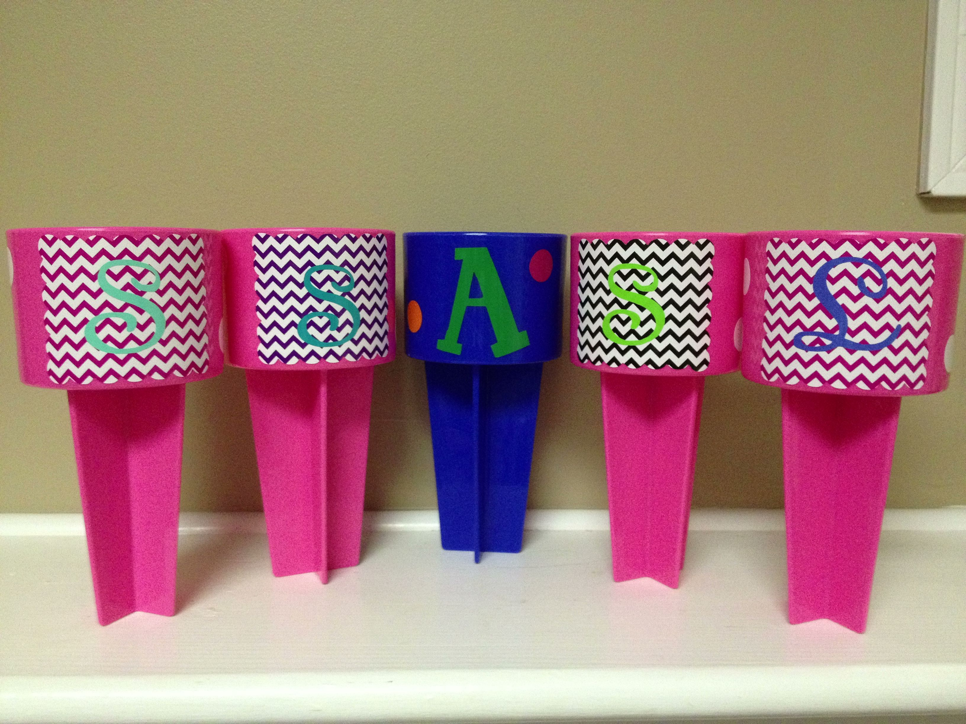 Beach Spikers ~$15!  Available in pink, red, white, orange, teal, blue, lime green and purple!