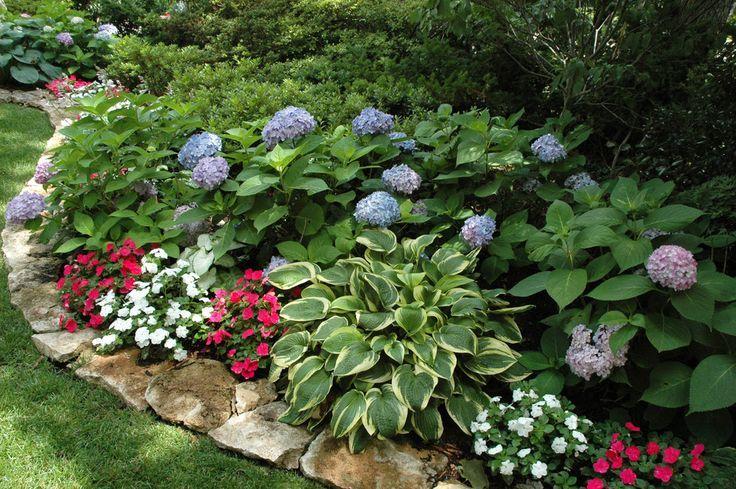 shade planter bed ideas - google