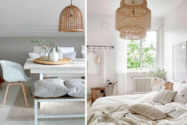 L mparas de mimbre y bamb para decorar tu hogar ideas - Bambu para decorar ...