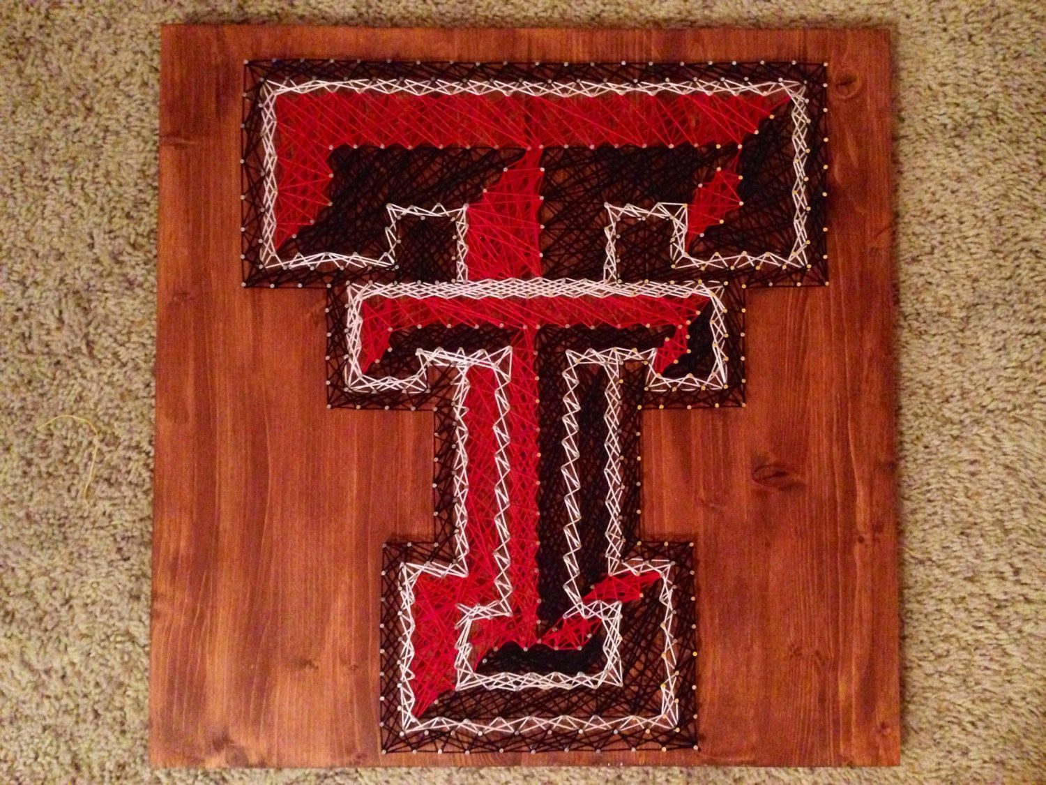 String Art Sports Logo Texas Tech Red Raiders FREE SHIPPING By ThingsStringed On Etsy