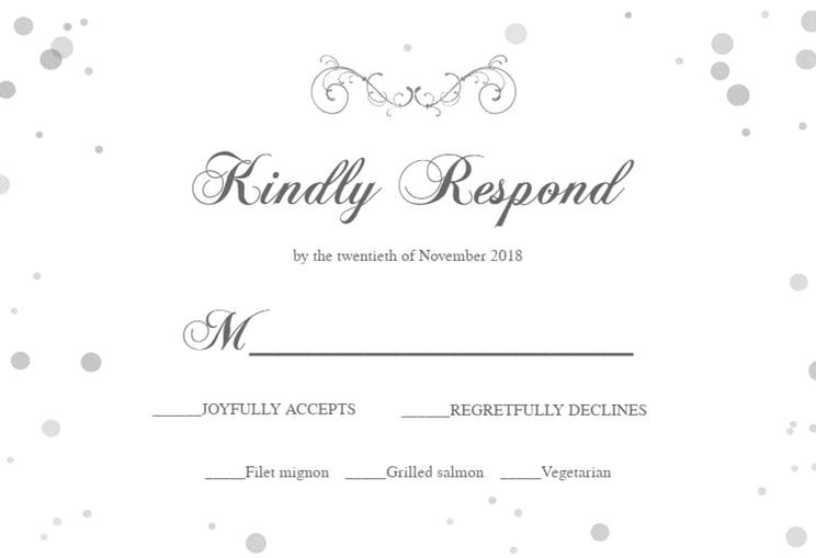 Shiny Invitation Rsvp Card Template Free Greetings Island Invitations Rsvp Card Card Templates Free
