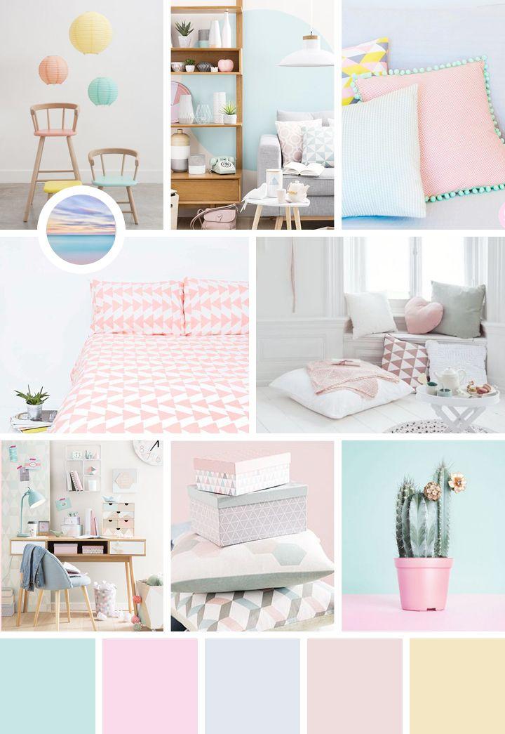 Une dose d 39 inspiration aux couleurs pastel avec moodboard for Inspiration couleur chambre