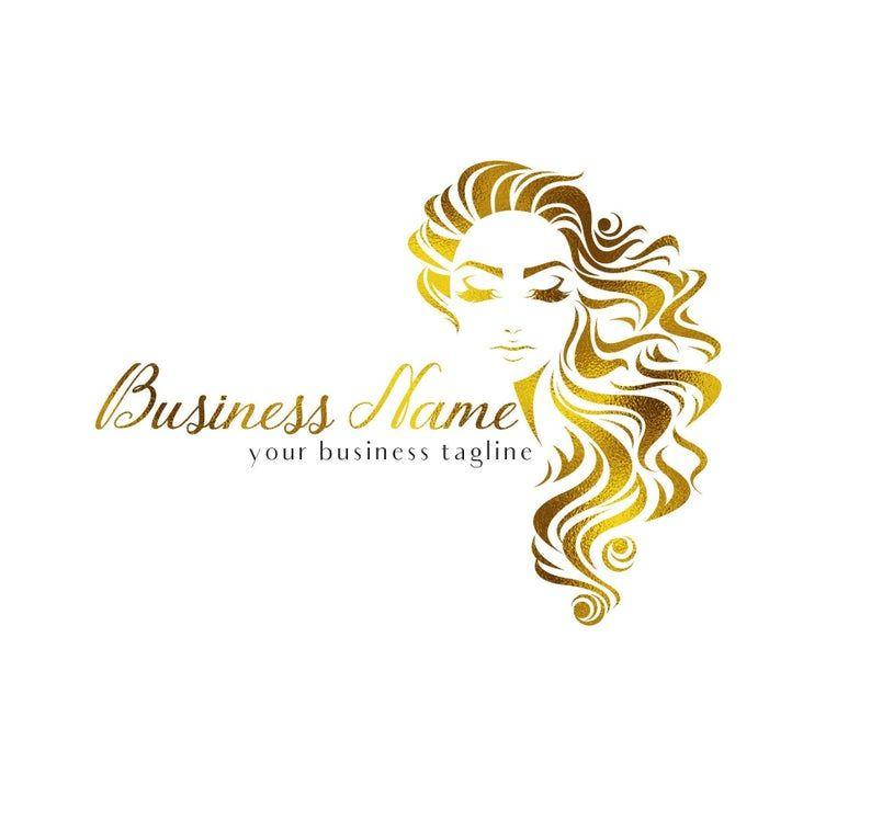 Hair salon logo hairstylist logo hair extensions logo