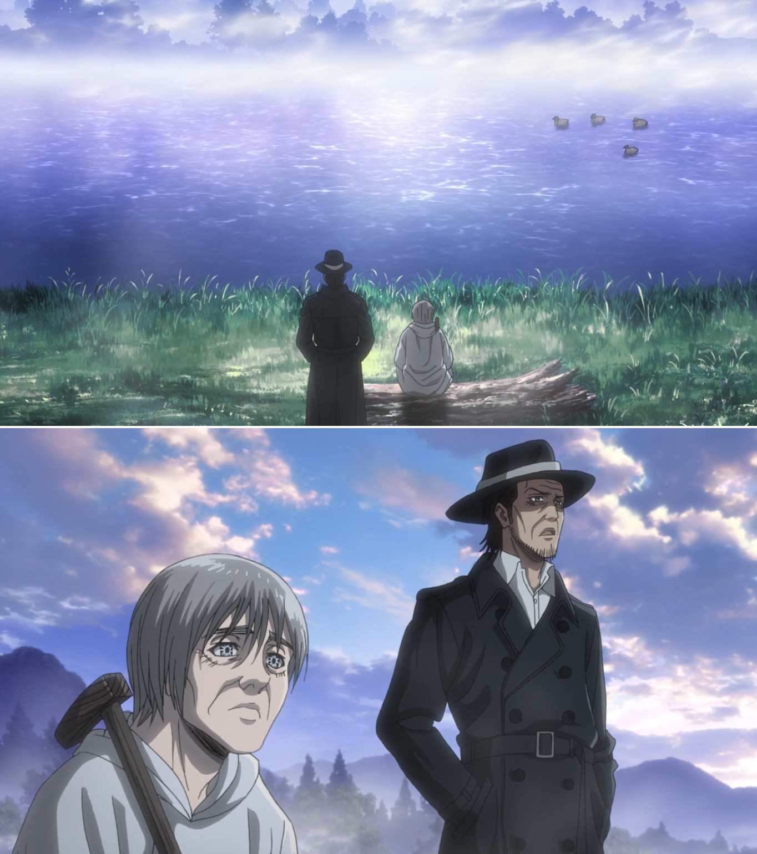 Attack on Titan season 3 Kenny and Uri Anime, Violência