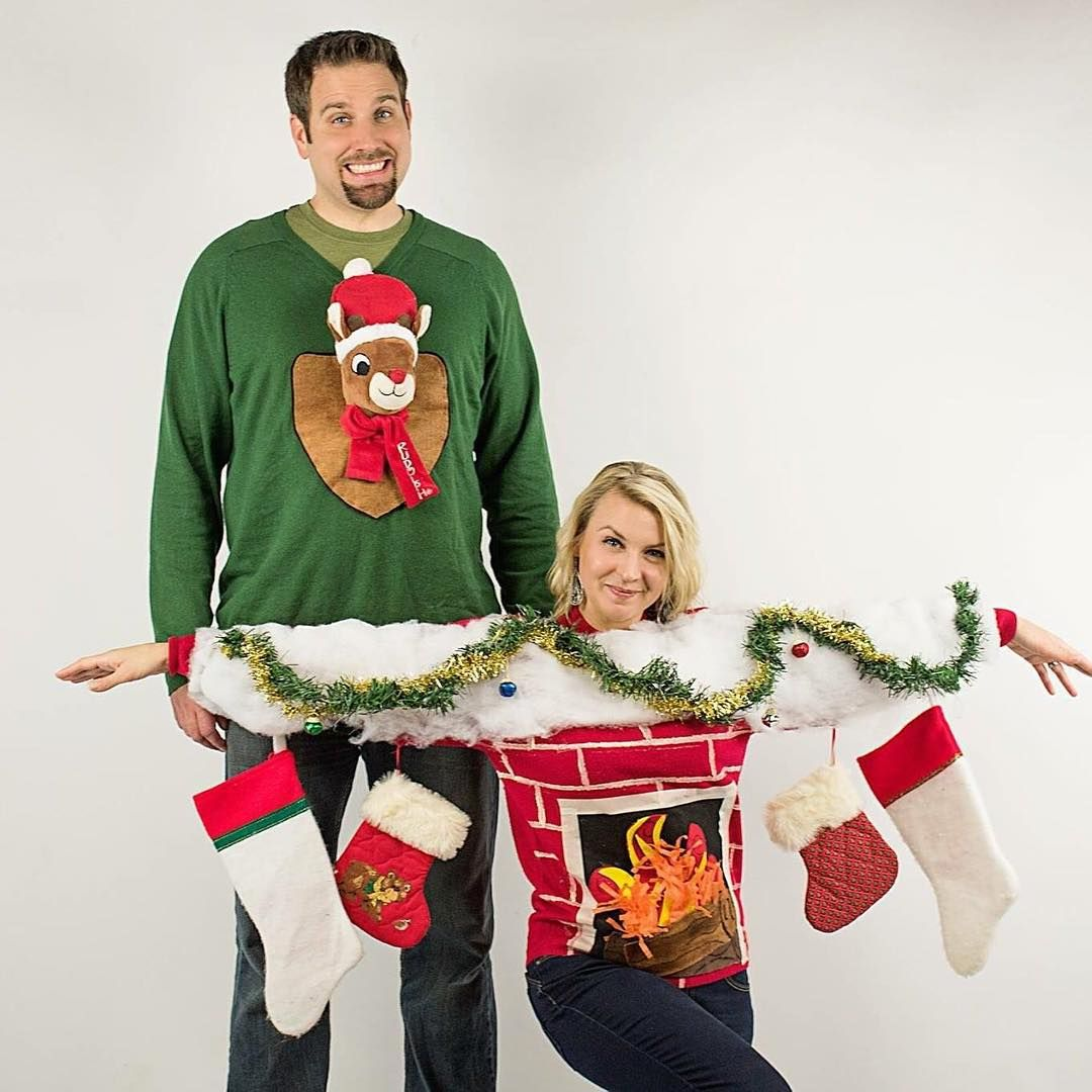 Seriously funny couple Ugly Christmas Sweaters Funny