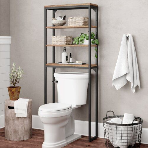 Eckles 13 W X 60 25 H Bathroom Shelf In 2020 Toilet Storage Over Toilet Storage Toilet Shelves