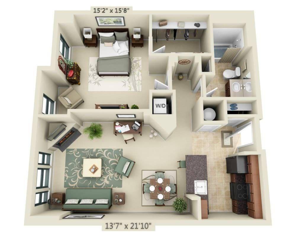 1301 Thomas Circle Floor Plan A1K