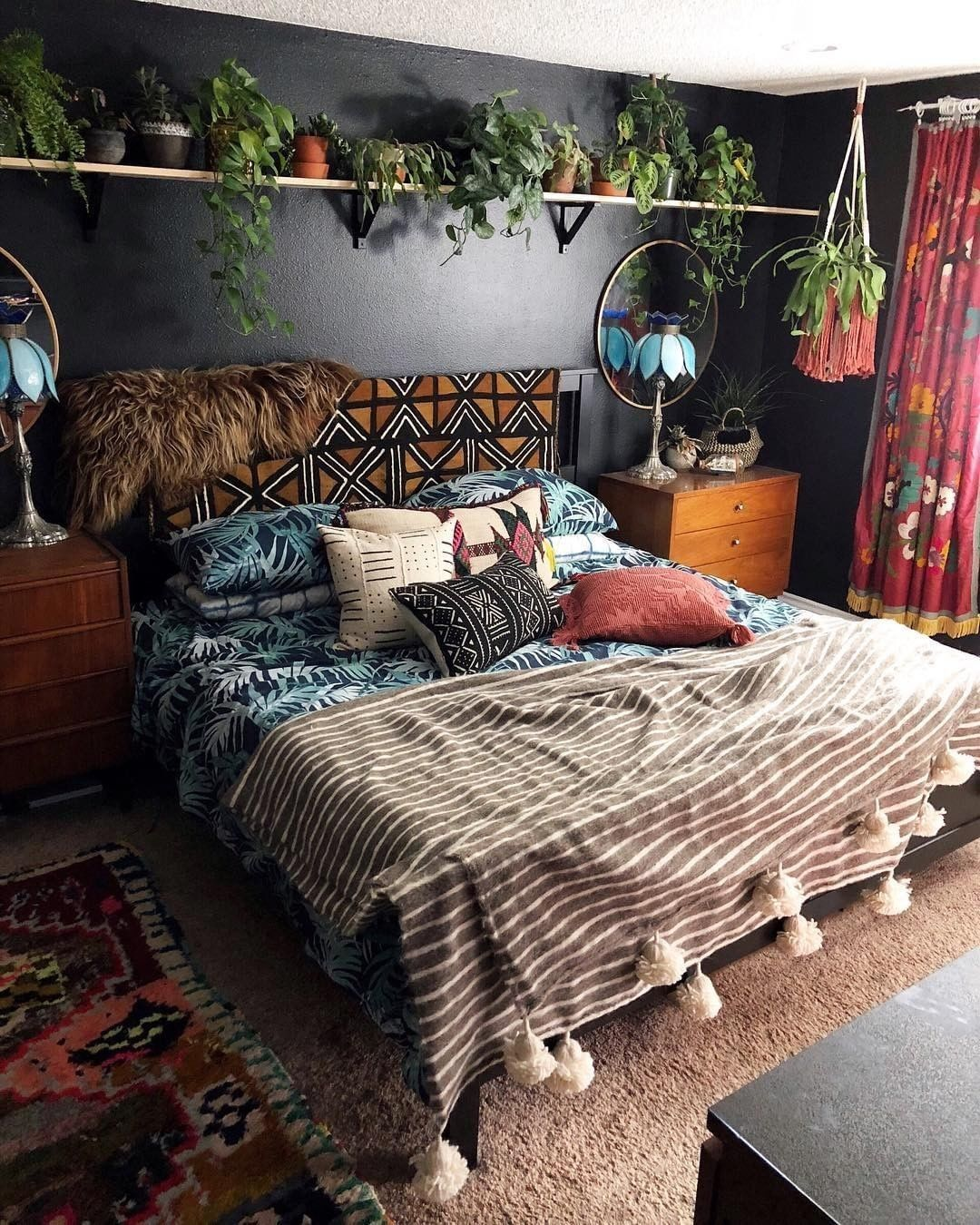 50 Sleigh Bed Inspirations For A Cozy Modern Bedroom: 50+ Creative Hanging Plants Ideas For Indoor In 2020