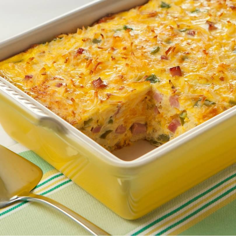 Ingredients: 8 Eggland's Best Eggs 1/2 cup half-and-half cream 1 cup (4  ounces) shredded cheddar cheese 1 cup finely chopped fully cooked ham 1/4  cup finely ...