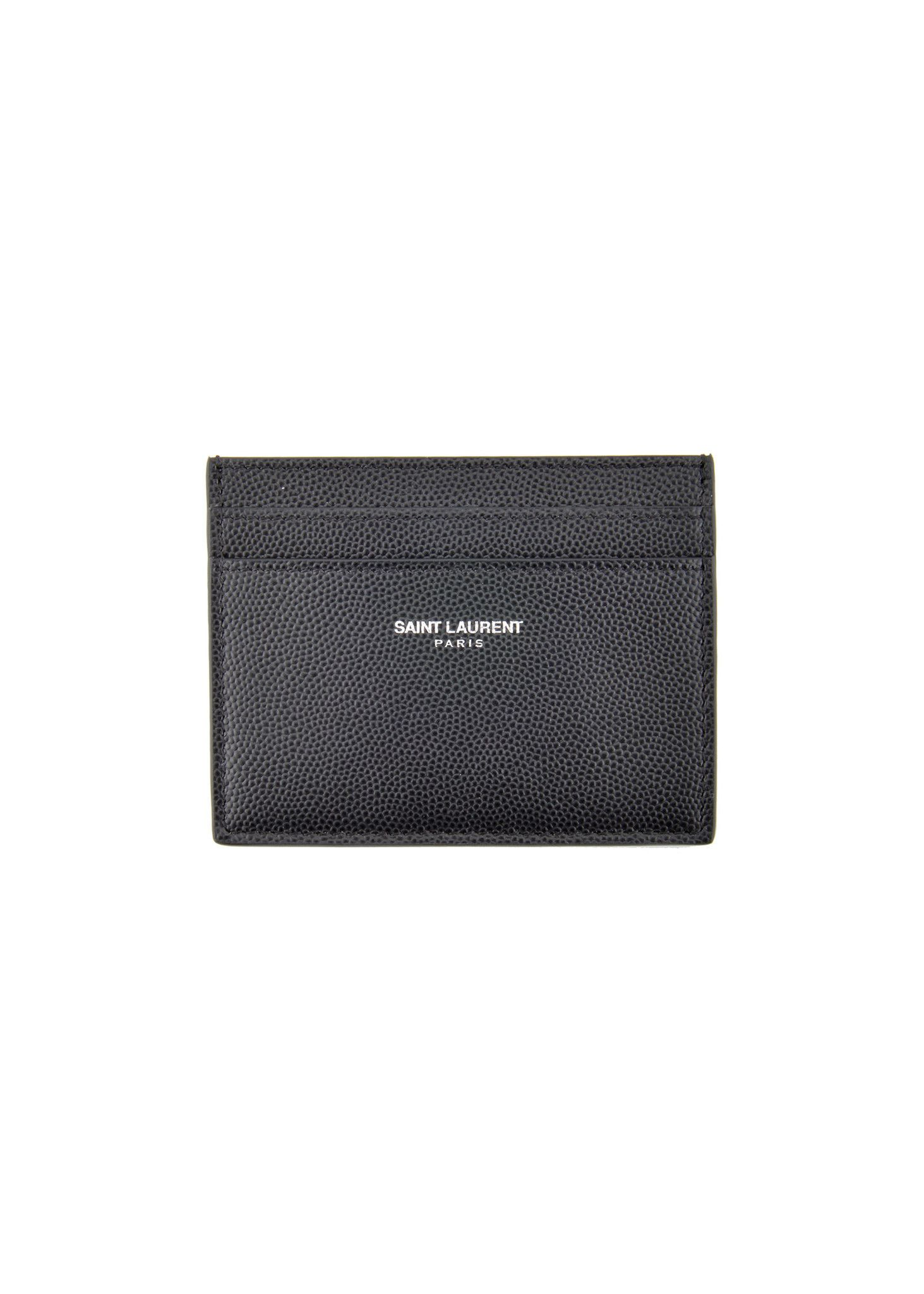 Saint Laurent Paris Fall Winter Menswear Black Classic - Porte carte yves saint laurent