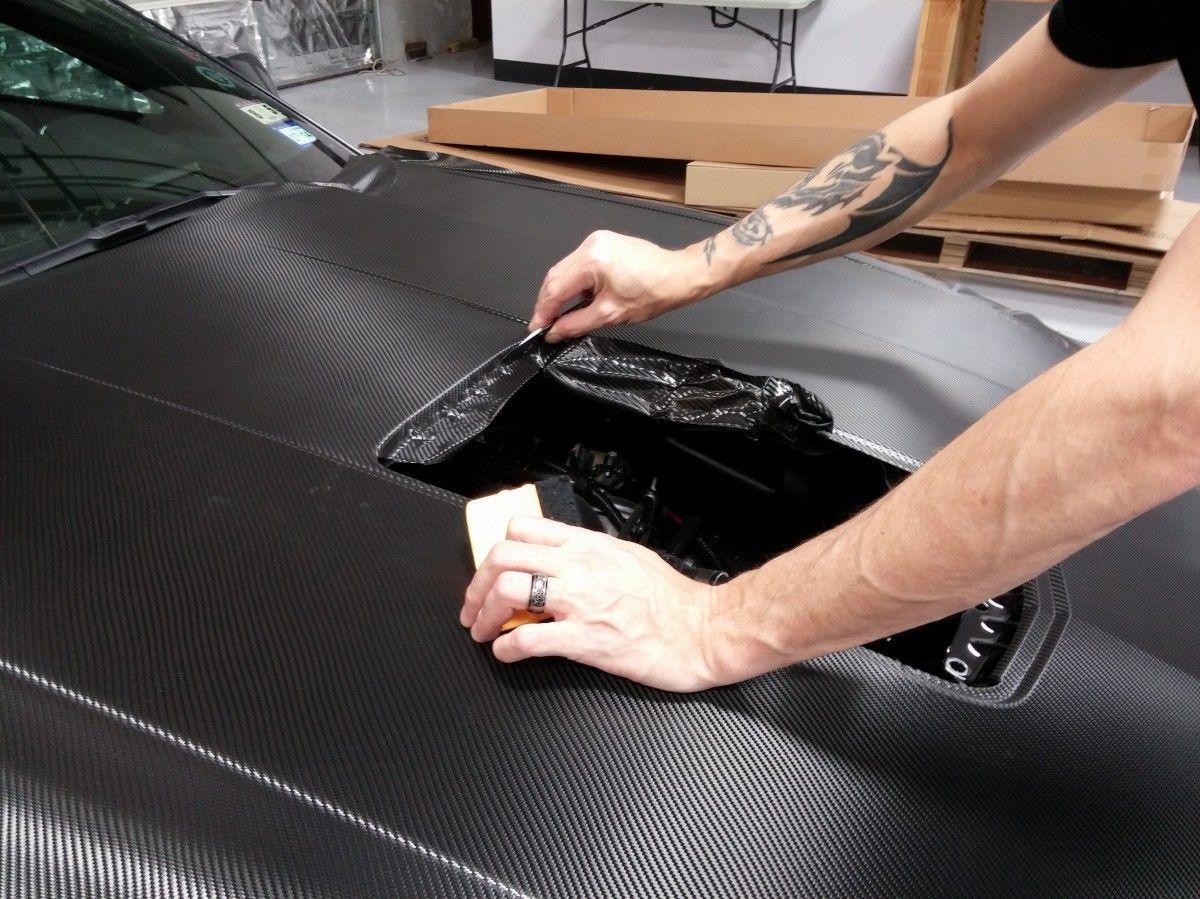 Carbon Fiber hood Installation from start to finish - Zilla